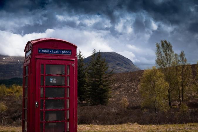 Remote Phone Box near Laggan